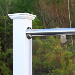 Stainless Steel Top&Bottom Rail With Glass Infill (SS-TB-G)